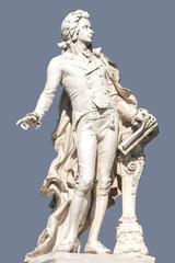 Statue of Wolfgang Amadeus Mozart in Vienna.