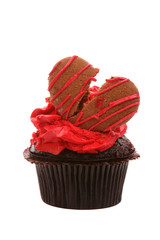 Valentine's Day cupcake with broken heart