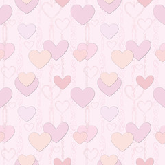 Love heart seamless background. Party card. Greeting pattern.