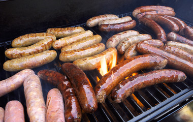 Grilling Sausage