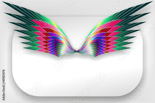 Ali Astratte a Colori Logo - Abstract Wings Design - Vector