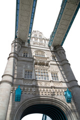 One Tower of the Tower Bridge.