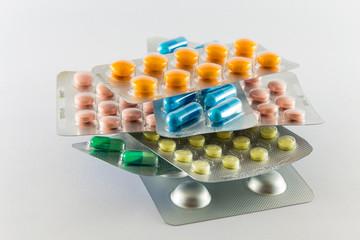 Pile de plaquettes de médicaments