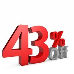 43 Percent off