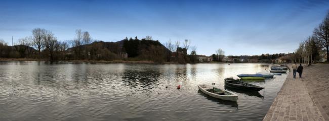 Paesaggio 360 campagna con fiume