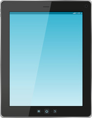Digital tablet pc with blue screen