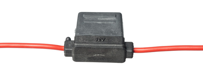 Isolated shot of  fuse holder