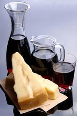 Parmiggiano con vino rosso