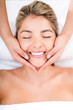 Happy woman at the spa