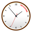 Time to Set Goals Wooden Wall Clock Concept