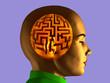 Labyrinth inside a human head
