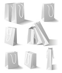 White paper bags set
