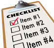 Checklist on Clipboard To-Do Item List