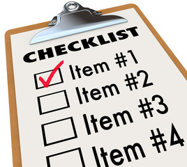 Checklist on Clipboard To-Do Item List
