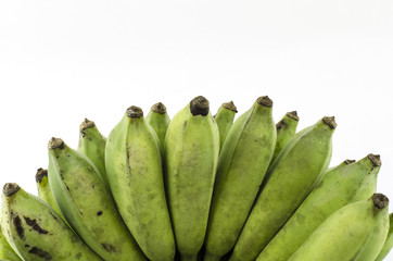 green banana isolate with white background