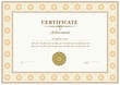 Vector red certificate