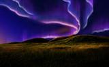 aurora on field