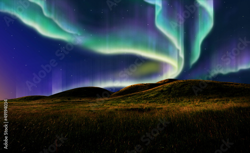 aurora on field