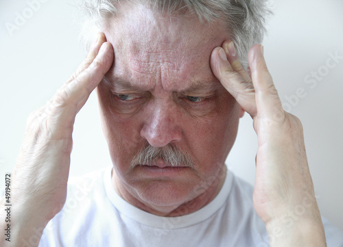 temple headache in older man