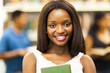 cute female african american college student closeup portrait