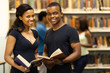 group of african american university students in library