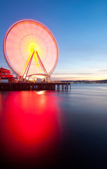 Seattle's Great Wheel, a ferris wheel on the waterfront.