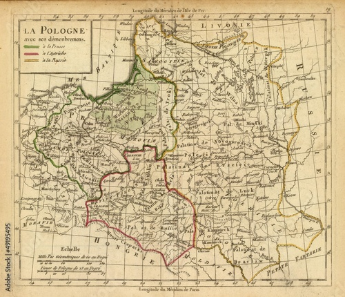 old map Poland