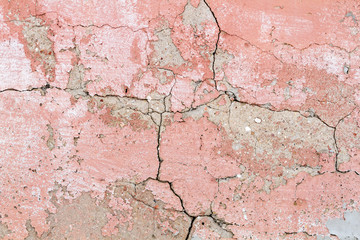 Old red cracked concrete background