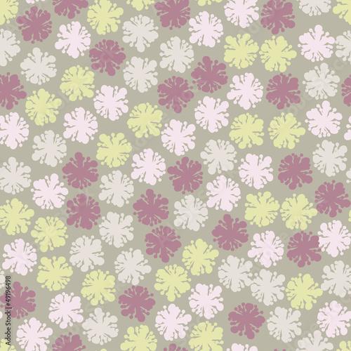 Elegance seamless pastel flower pattern.