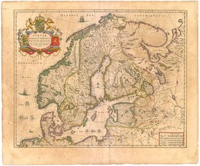 Scandinavia old map