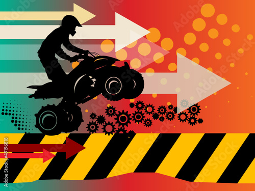 Off-road abstract background, vector illustration