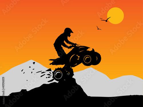 Off-road jump background, vector illustration
