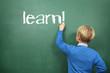 learn  Schoolboy at the Blackboard