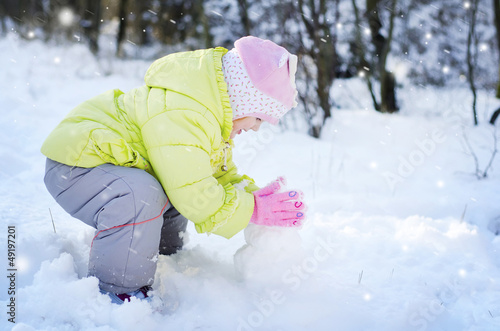 girl in the winter park