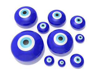 Evil eye amulet on a white background