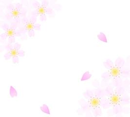 桜の花びらのフレーム