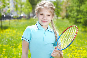 Youthful tennis player