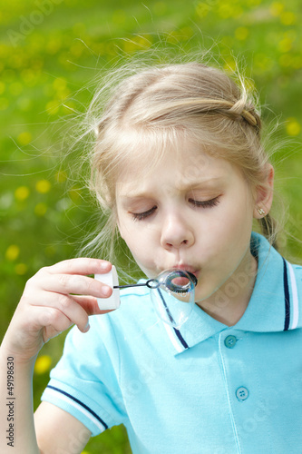 Soap bubble play