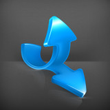 Emblem of blue arrows