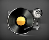 Phonograph turntable