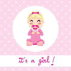 It's a girl baby design