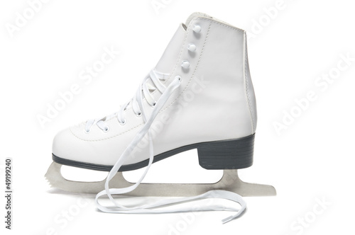 Women's ice skate on white background