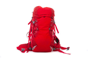 Hiking gear on the  white  background