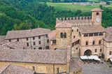 Panoramic view of Castell'Arquato. Emilia-Romagna. Italy.