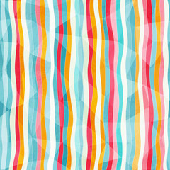 abstract color lines seamless pattern with paper effect