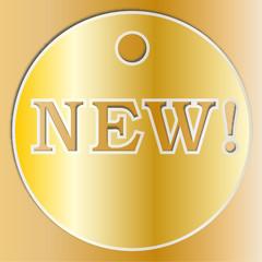 medaglia tonda dorata novità