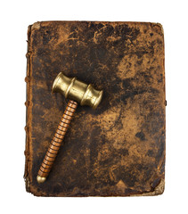gavel on book