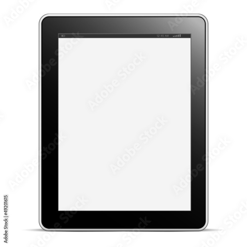 Digital tablet PC with blank screen