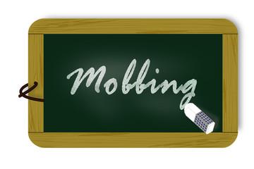Kreidetafel, Schriftzug, Mobbing