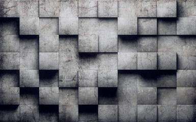 Abstract concrete wall